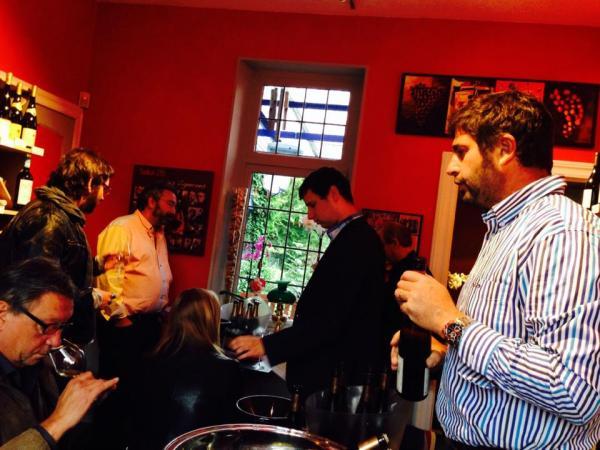 Gustation Etienne LOEW et Boris Politi des Champagne Diligent